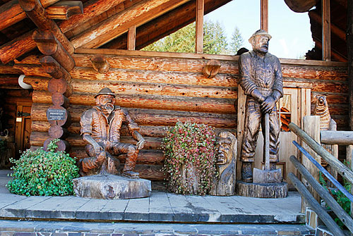 Wood Carvings In Front of the Camp 18 Restaurant - Elsie, Oregon
