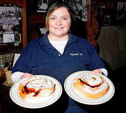 World Famous Cinnamon Rolls Anyone?  The Camp 18 Restaurant In  Elsie Oregon Has A Great Menu To Choos From