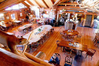 The Beautiful Dining Room At The Camp 18 Restaurant - Elsie, Oregon