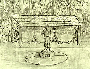 Loggers' Memorial Sketch - Camp 18 Restaurant - Elsie, Oregon